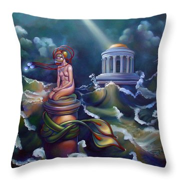 Eve Throw Pillow by Patrick Anthony Pierson