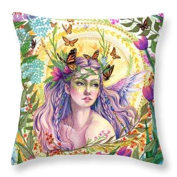 Eve Throw Pillow by Sara Burrier