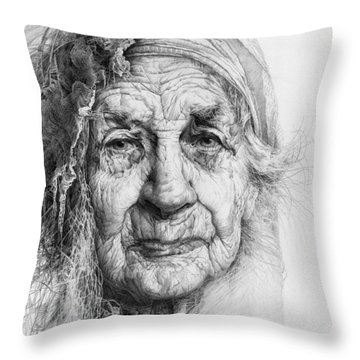Eve. Series Forefathers Throw Pillow
