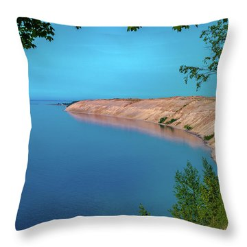 Eveing Light On Grand Sable Banks Throw Pillow