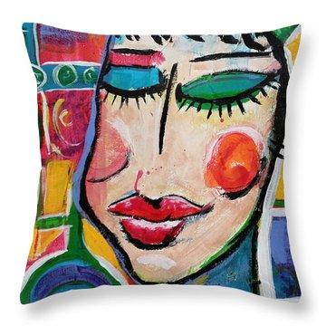 Evelyn - Vivid Vixen 5 Throw Pillow
