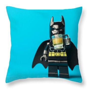 Even Batman Needs A Beer Throw Pillow