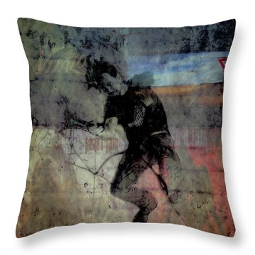 Even Flow Throw Pillow by Joel Witmeyer