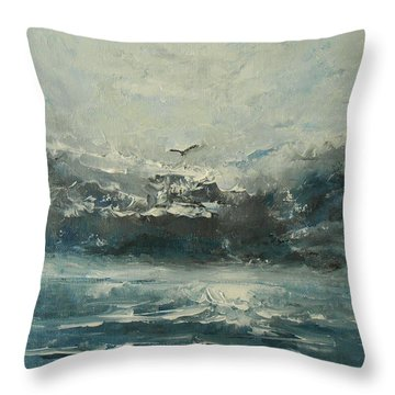 Even If The Skies Get Rough Throw Pillow