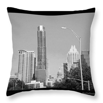 Even In #blackandwhite, The #skyline Of Throw Pillow