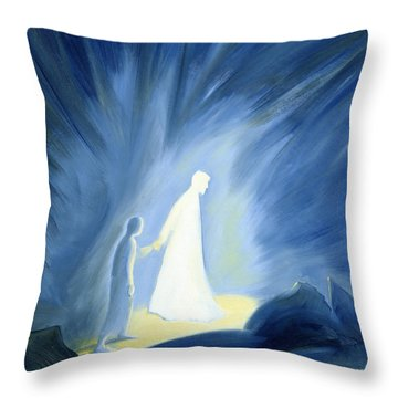 Even In The Darkness Of Out Sufferings Jesus Is Close To Us Throw Pillow by Elizabeth Wang