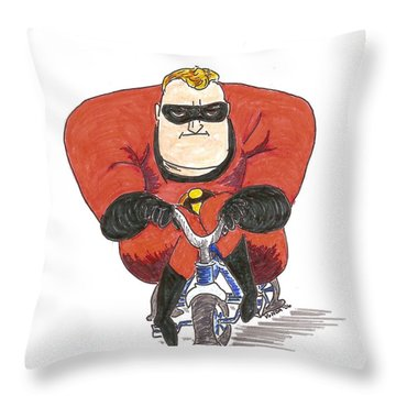 Even Super Heroes Have Bad Days Throw Pillow