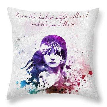 Even The Darkest Night Will End Throw Pillow
