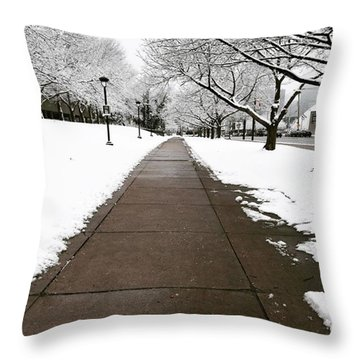 Winter Walks  Throw Pillow by Cyrionna The Cyerial Artist