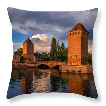 Evening After The Rain On The Ponts Couverts Throw Pillow