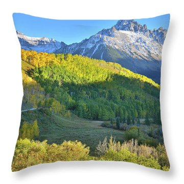 Throw Pillow featuring the photograph Evening Along County Road 7 by Ray Mathis