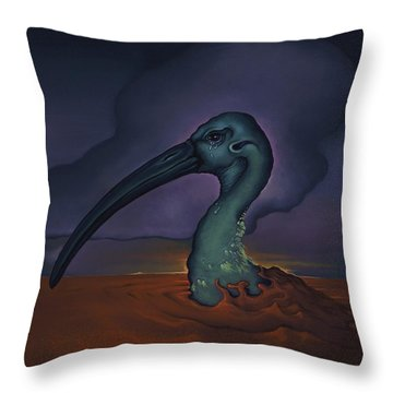 Evening And The Hiss Of Sadness Throw Pillow