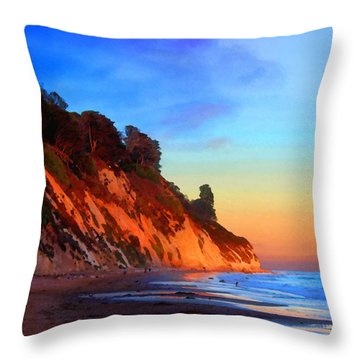 Evening At Arroyo Burro Throw Pillow