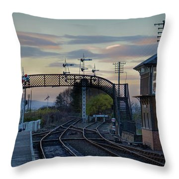 Evening At Bo'ness Station Throw Pillow