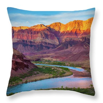 Evening At Cardenas Throw Pillow