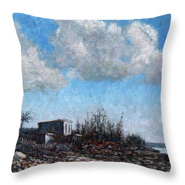 Evening At Current Ridge Throw Pillow