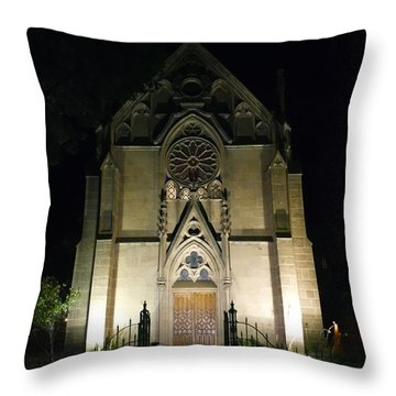 Throw Pillow featuring the photograph Evening At Loretto Chapel Santa Fe by Kurt Van Wagner