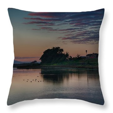 Evening At Moss Landing Throw Pillow
