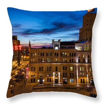 Evening At Pabst Throw Pillow
