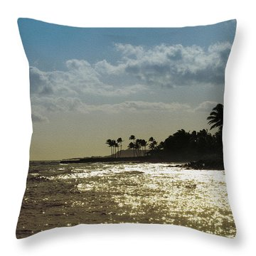 Evening At Poipiu Kauai Throw Pillow