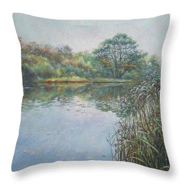 Evening At Southampton Common Lake Throw Pillow