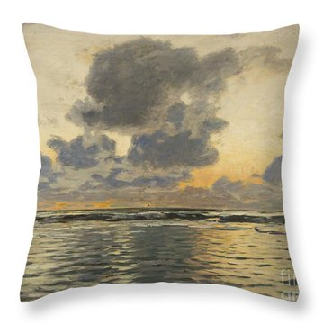 Evening At The Baltic Sea Throw Pillow