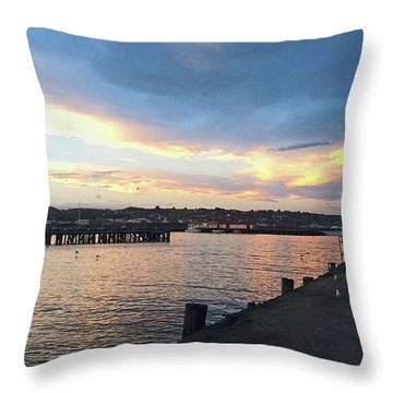 Throw Pillow featuring the photograph Evening At The Bay by Nareeta Martin