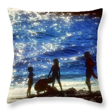 Evening At The Beach Throw Pillow by Stephen Anderson