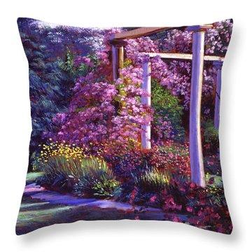 Evening At The Elegant Garden Throw Pillow