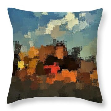 Evening At The Farm Throw Pillow