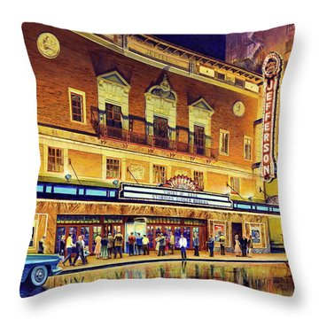 Evening At The Jefferson Throw Pillow