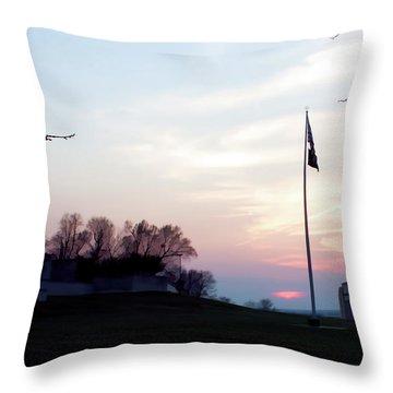 Evening At The Memorial Throw Pillow