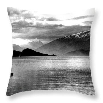 Evening At Wanaka Throw Pillow