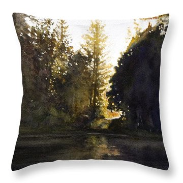 Evening Throw Pillow