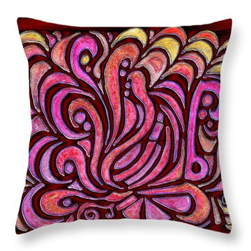 Evening Bonfire Throw Pillow by Mark Sellers