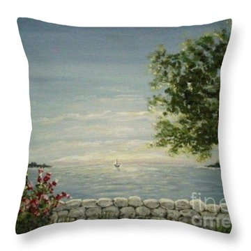 Evening Breeze Throw Pillow by Leea Baltes