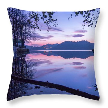 Evening By The Lake Throw Pillow