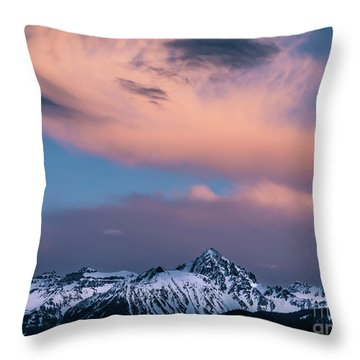 Throw Pillow featuring the photograph Evening Clouds Sneffels Range by The Forests Edge Photography - Diane Sandoval