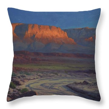 Evening Comes To Marble Canyon Throw Pillow