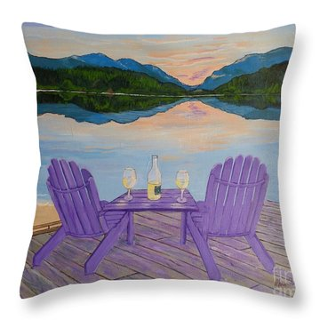 Evening Delight Throw Pillow