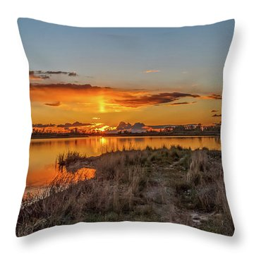 Throw Pillow featuring the photograph Evening Delight by Robert Bales