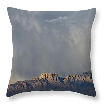 Throw Pillow featuring the photograph Evening Drama Over The Organs by Kurt Van Wagner