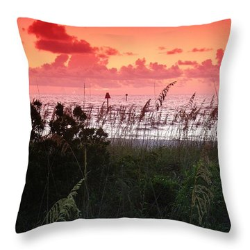 Evening Dunes Throw Pillow
