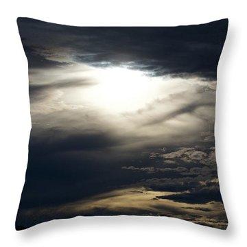 Evening Eye Throw Pillow