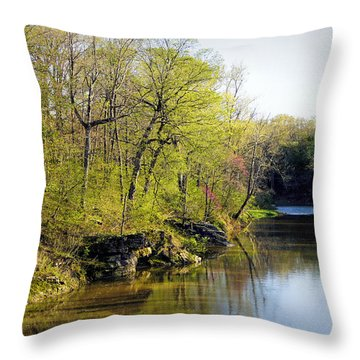 Evening Falls On Cedar Creek Throw Pillow