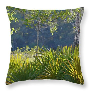 Throw Pillow featuring the photograph Evening Foliage by Bruce Gourley