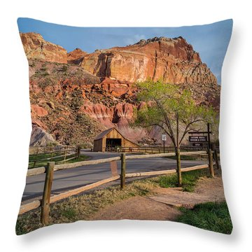 Evening Glow Capitol Reef Throw Pillow by Michael J Bauer