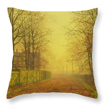 Evening Glow Throw Pillow by John Atkinson Grimshaw