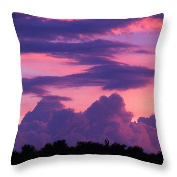 Evening Glow Throw Pillow by Mistys DesertSerenity