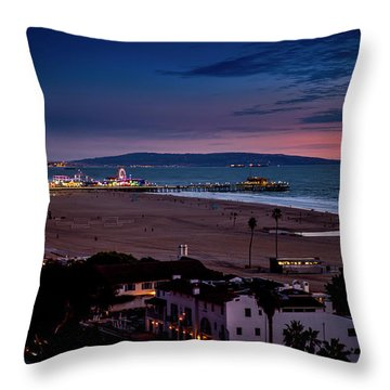 Evening Glow On The Pier Throw Pillow